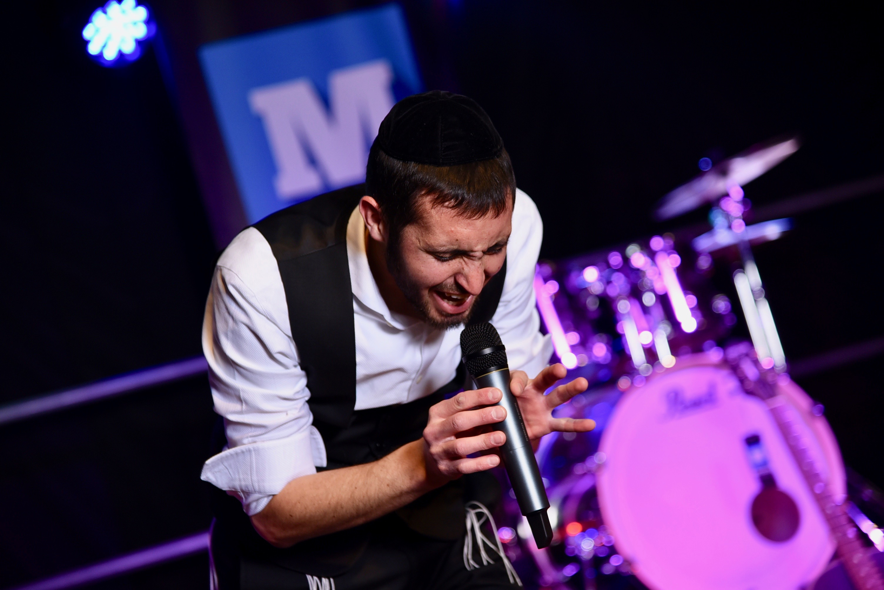 Reuven Garber performing on stage